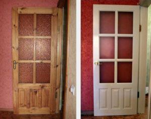 Отреставрировать двери из натурального дерева